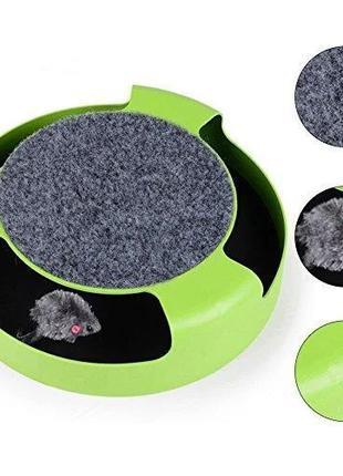 Игрушка для кошек, когтеточка, мышка забава для кота