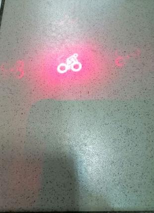 Лихтар для велосипеда червоний з ефектами