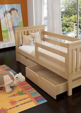 Адель одноярусная кровать с ящиками.
