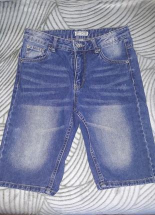 Бриджи джинсовые на мальчика 11-12 лет