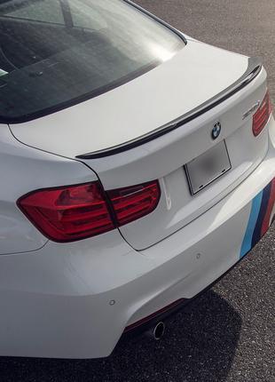 Спойлер BMW F30 тюнинг сабля M3 (пластик, черный глянц)