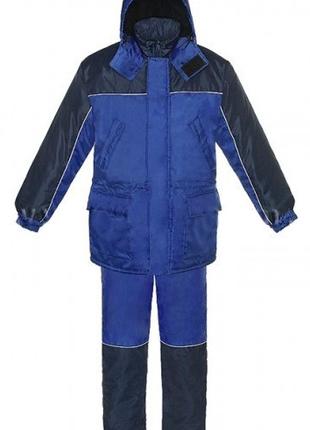 Курта и полукомбинезон сине-васильковый1