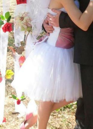 Короткое свадебное платье на выпускной