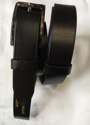 Кожаный женский пояс ремешок ремень черный в наличии