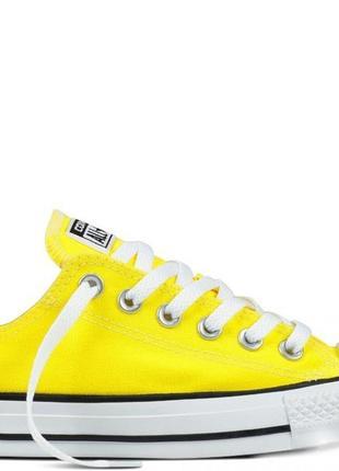Желтые кеды converse