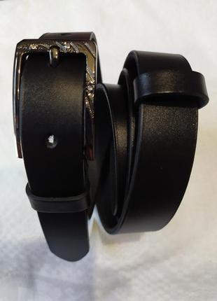 Женский кожаный пояс ремень черный в наличии