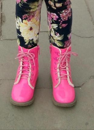 Лаковые ботинки доктор мартинс