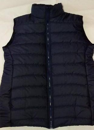Новая темно-синяя зимняя теплая жилетка(жилет) синтепон