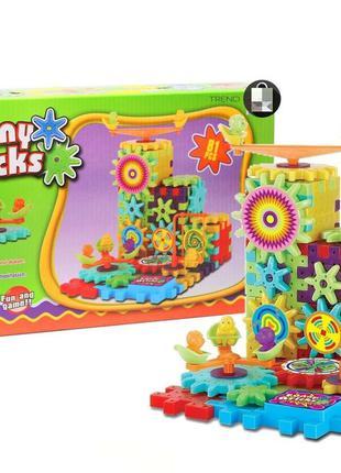 Funny Bricks детский 3D конструктор Фани Брикс 81 деталь