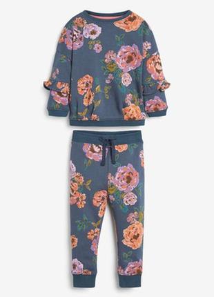 Спортивный костюм с цветочным принтом next(3 мес.-7 лет)