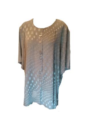Блуза з декоративними ґудзиками, бежевий розмір 58 (4XL)
