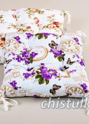 Подушка для стула с завязками