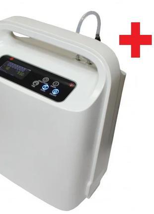 Кислородный концентратор Y007C-1W (1-5 литров) с пульсоксиметром