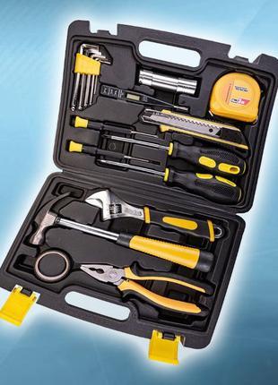 Набор инструментов, пассатижи, ключ, нож, отвертка 17 ед (78-0...