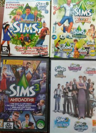 Коллекция игр DVD PC SIMS 2,3 Лицензия новые