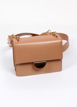 Стильная кросс-боди сумка на ремешке / сумочка через плечо из ...