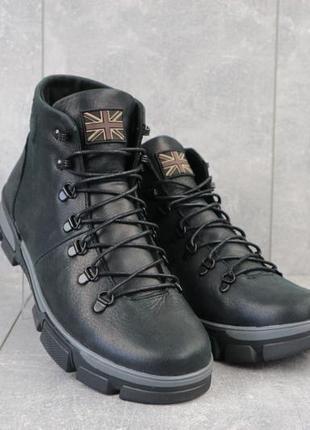 Мужские зимние кожаные ботинки {натуральная кожа}