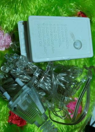 Электронный блок управления гирлянда, 8 режимов свечения гирлянды