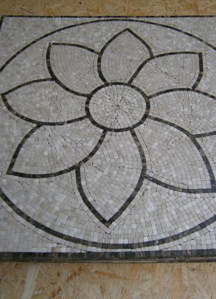 Мозаика мрамор на пол 90*90см