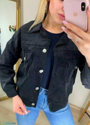 Черная вельветовая куртка рубашка