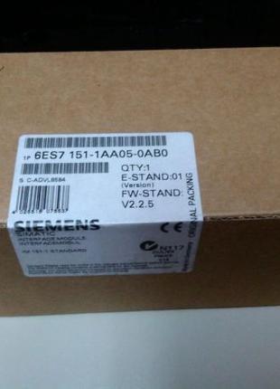 6ES7151-1AA05-0AB0 INTERFACE MODULE IM151-1 Siemens Simatic ET...