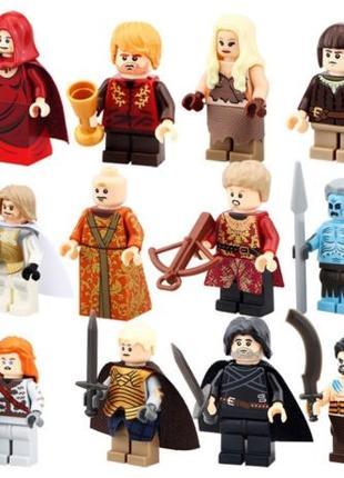 Игры Престолов Game of Thrones набор из 12 персонажей в коллекцию