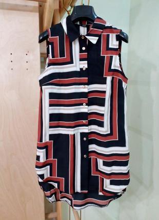 Блуза туника с удлиненной спинкой