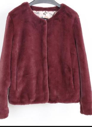 Жакет пиджак куртка меховой эко мех кролик рекс