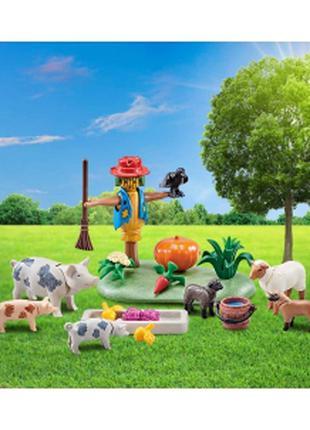 Playmobil 9832 Огородное пугало с поросятами и овцами.