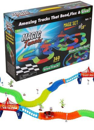 Magic tracks светящаяся дорога 220 деталей   гоночная трасса