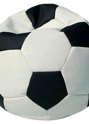 Пуф ПРИМТЕКС ПЛЮС кресло-мяч Fan H-2200/D-5 S White-Black (Fan H-