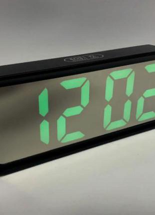 Часы электронные с ярким свечением настольные, зеркальные