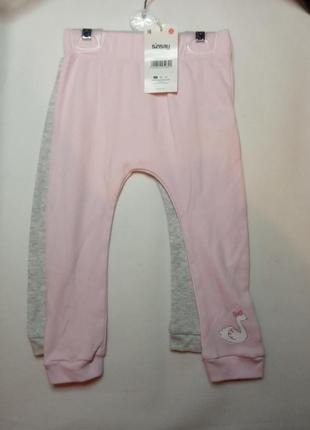 Трикотажные штаны лосины для девочек