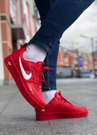 Nike air force red, кроссовки найки
