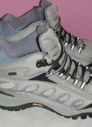Кожанные трекинговые ботинки merrell
