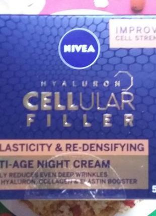 Nivea hyaluron cellular filler night cream/антивозрастной ночн...