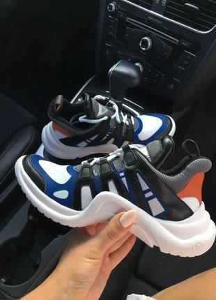 Женские кроссовки sneakers black blue white