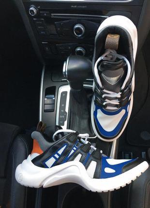 Sneakers black blue white, кросівки жіночі