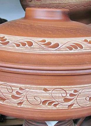 Красная глина. Сковорода 3,5 литра