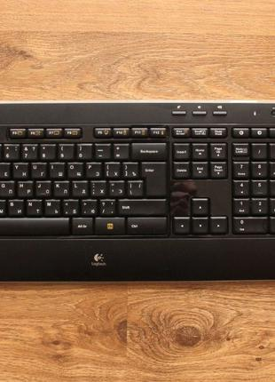Комплект клавиатура и мышь Logitech Wireless Combo MK520 Black...
