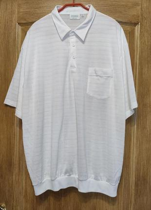 Canda белое поло с карманом