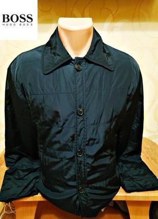 Мужская демисезонная куртка черного цвета hugo boss