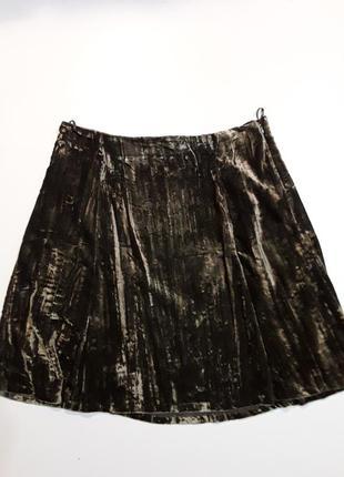 Фирменная очень красивая велюровая юбка