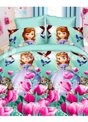 """Детское постельное белье для девочки  из ранфорса """"софия прекр..."""