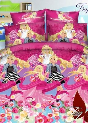 """Детское постельное белье для девочки из ранфорса """"барби подружки"""""""