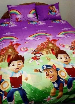 """Детское постельное белье для деток из ранфорса""""щенячий патруль"""""""