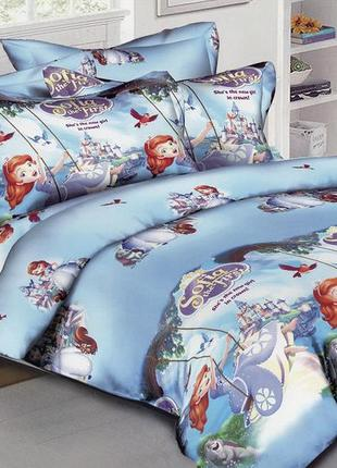 """Детское постельное белье для девочки из ранфорса """"софия прекра..."""