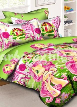 """Детское постельное белье для девочки из ранфорса """"май литл понни"""""""