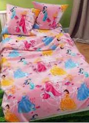 """Детское постельное белье для девочки из бязи голд """"принцесы ди..."""