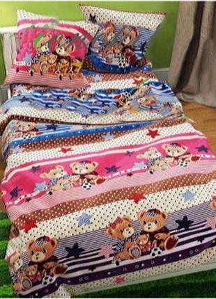 Детское постельное белье для девочки из ранфорса